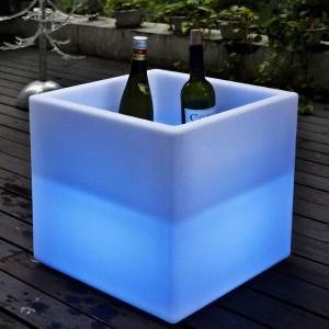 Светящееся ведро с аккумулятором для льда и шампанского LED BAR 40 см. с разноцветной RGB подсветкой IP68