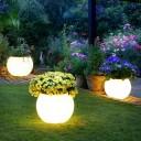 Светящееся кашпо шар для цветов LED MOONY 100 см. c разноцветной RGB подсветкой и пультом ДУ IP65 220V