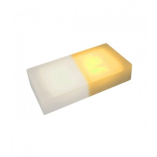 Светодиодная тротуарная плитка LED LUMBRUS 200x100x40 мм. двухцветная белый-жёлтый IP68