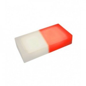 Светодиодная тротуарная плитка LED LUMBRUS 200x100x40 мм. двухцветная белый-красный IP68