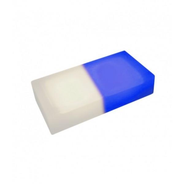 Светодиодная тротуарная плитка LED LUMBRUS 200x100x40 мм. двухцветная белый-синий IP68