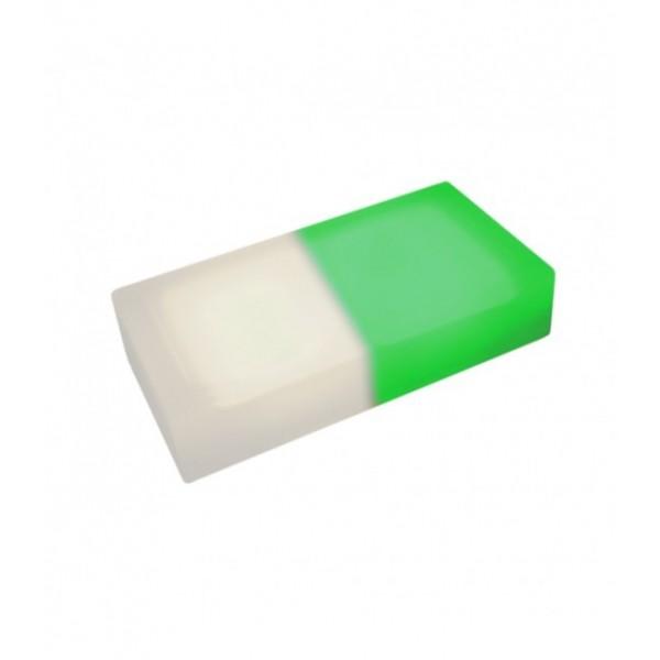 Светодиодная тротуарная плитка LED LUMBRUS 200x100x40 мм. двухцветная белый-зелёный IP68