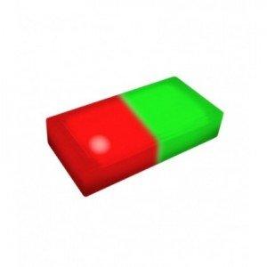 Светодиодная тротуарная плитка LED LUMBRUS 200x100x40 мм. двухцветная красный-зелёный IP68