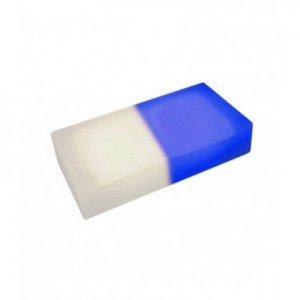 Светодиодная тротуарная плитка LED LUMBRUS 200x100x60 мм. двухцветная белый-синий IP68