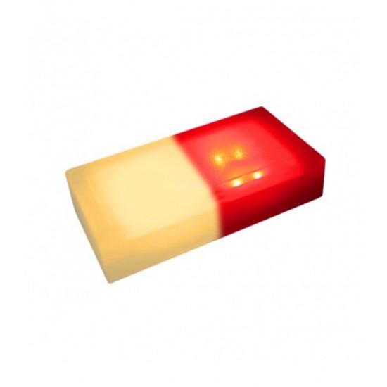 Светодиодная тротуарная плитка LED LUMBRUS 200x100x60 мм. двухцветная жёлтый-красный IP68