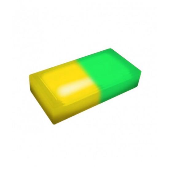 Светодиодная тротуарная плитка LED LUMBRUS 200x100x60 мм. двухцветная жёлтый-зелёный IP68