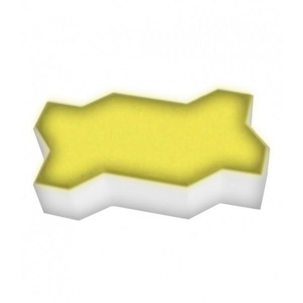 Светодиодная брусчатка LED LUMBRUS Zigzag 225x112x60 мм. одноцветная жёлтая IP68