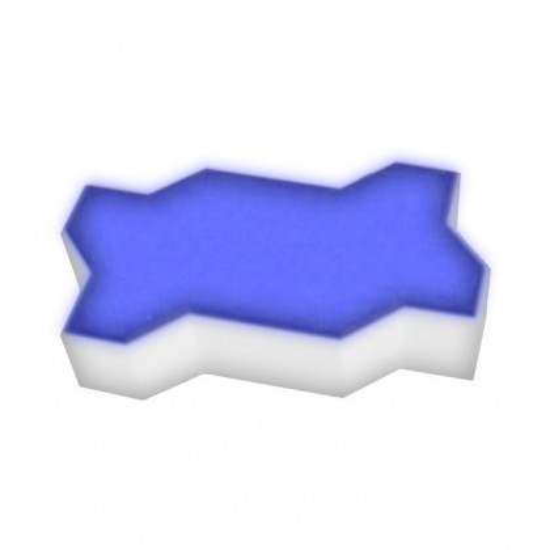Светодиодная брусчатка LED LUMBRUS Zigzag 225x112x60 мм. одноцветная синяя IP68