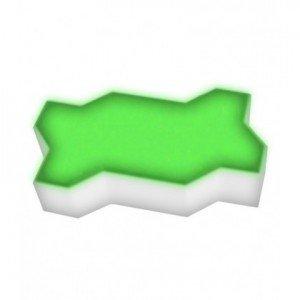 Светодиодная брусчатка LED LUMBRUS Zigzag 225x112x60 мм. одноцветная зелёная IP68