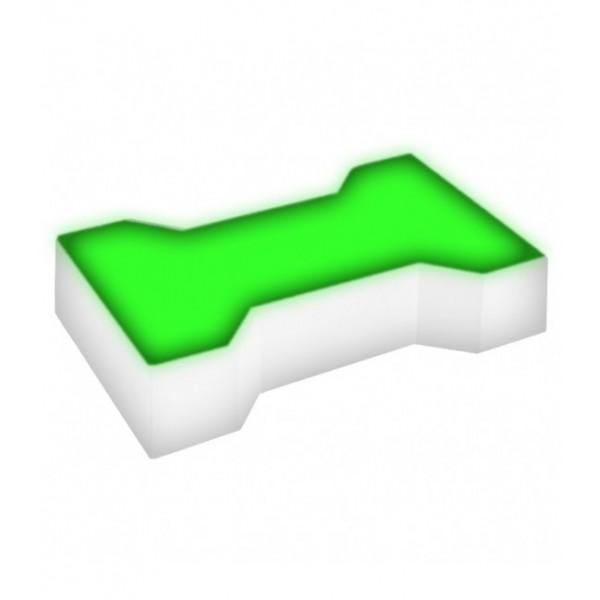 Светодиодная брусчатка LED LUMBRUS Spool-1 200x165x40 мм. одноцветная зелёная IP68