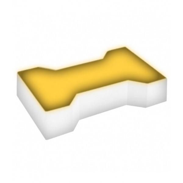 Светодиодная брусчатка LED LUMBRUS Spool-2 225x140x40 мм. одноцветная жёлтая IP68