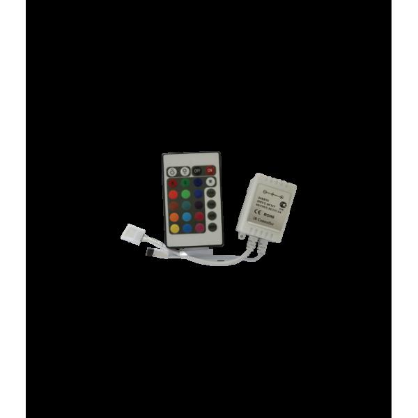 Контроллер RGB для тротуарных светильников 72 Вт. 12V (144 Вт. 24V) с инфракрасным пультом ДУ