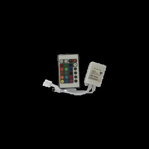 Контроллер RGB для разноцветных светодиодных светильников 12V 72 Вт. / 24V 144 Вт. с ИК-пультом ДУ
