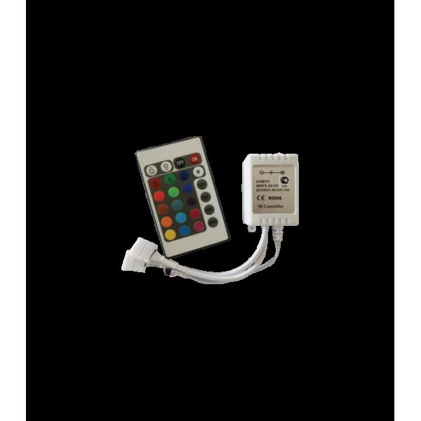 Контроллер RGB для тротуарных светильников 144 Вт. 12V (288 Вт. 24V) с инфракрасным пультом ДУ