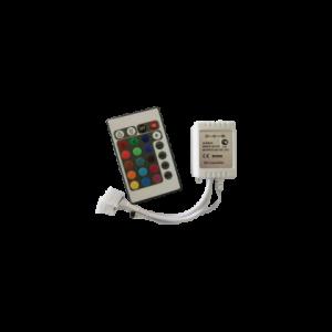 Контроллер RGB для разноцветных светодиодных светильников 12V 144 Вт. / 24V 288 Вт. с ИК-пультом ДУ