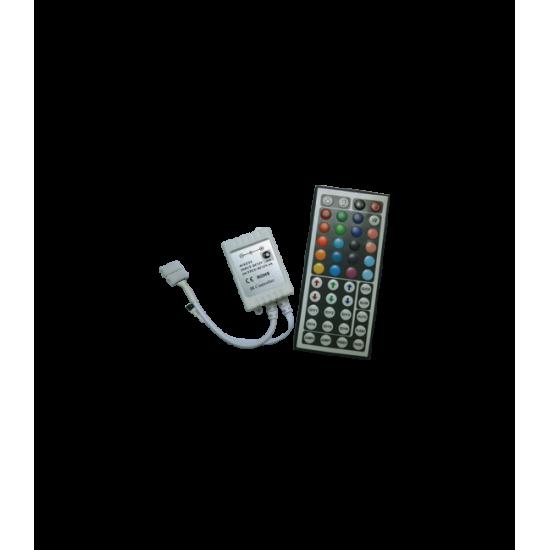 Контроллер RGB для тротуарных светильников 72 Вт. 12V (144 Вт. 24V) с большим инфракрасным пультом ДУ