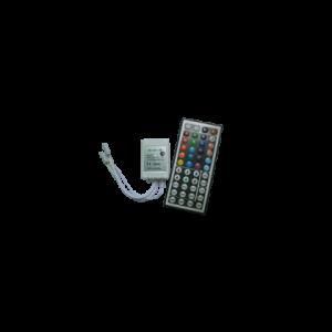 Контроллер RGB для разноцветных светодиодных светильников 12V 144 Вт. / 24V 288 Вт. с большим ИК-пультом ДУ