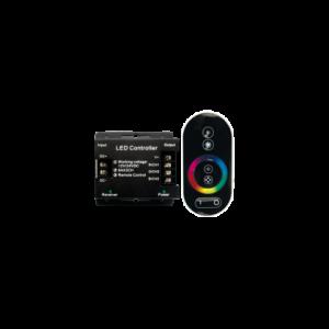 Контроллер RGB для светодиодных светильников 12V 216 Вт. / 24V 432 Вт. с сенсорным радио-пультом ДУ