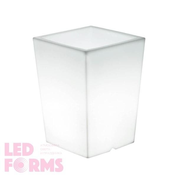 Кашпо с подсветкой для цветов LED Bergamo S, белое, 220V