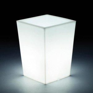 Светящееся кашпо для цветов LED BERGAMO S c белой светодиодной подсветкой IP65 220V — Купить в интернет-магазине LED Forms