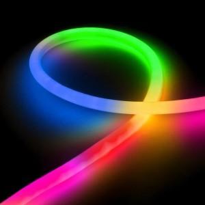 Гибкий неон LED NEON Flex 14 мм. с разноцветной RGB подсветкой IP67 220V