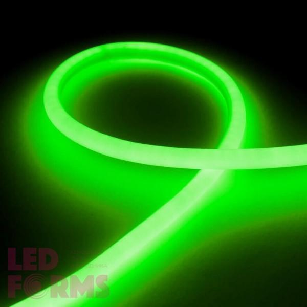 Гибкий неон LED NEON Flex 14 мм. с зелёной подсветкой IP67 220V