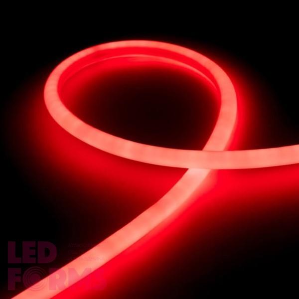 Гибкий неон LED NEON Flex 14 мм. с красной подсветкой IP67 220V