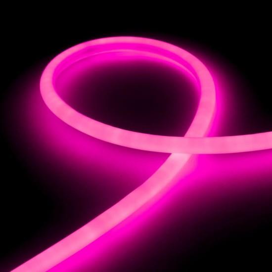 Гибкий неон LED NEON Flex 14 мм. с розовой подсветкой IP67 220V