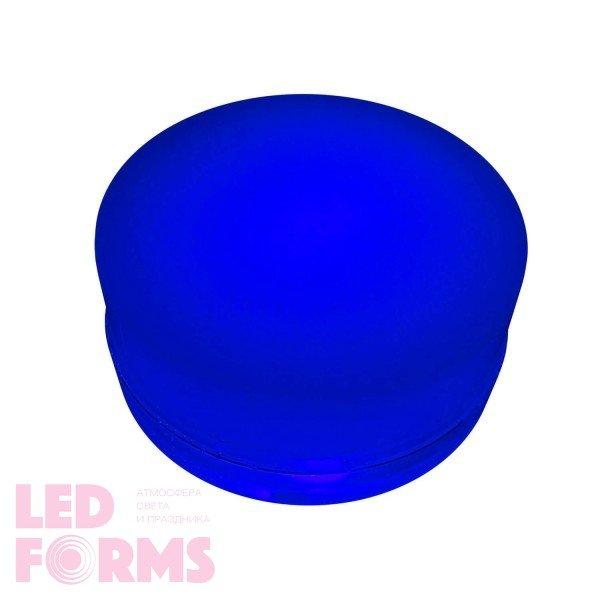 Грунтовый светильник LED LUMBRUS Spot 80x40 мм. одноцветный синий IP68