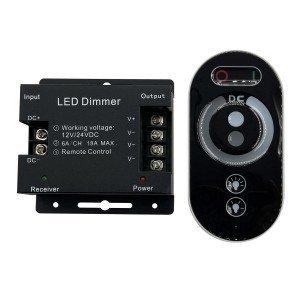 Диммер для одноцветных светодиодных светильников 12V 216 Вт. / 24V 432 Вт. с сенсорным пультом ДУ