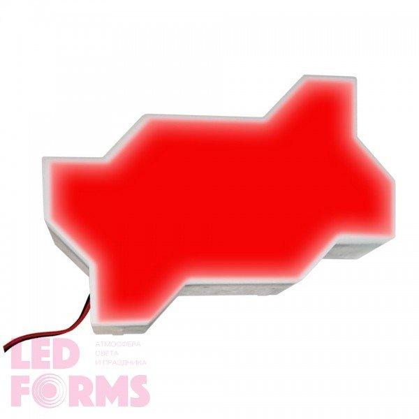 Светодиодная брусчатка LED LUMBRUS Zigzag 225x112x40 мм. одноцветная красная IP68