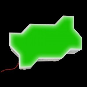 Светодиодная брусчатка LED LUMBRUS Zigzag 225x112x40 мм. одноцветная зелёная IP68