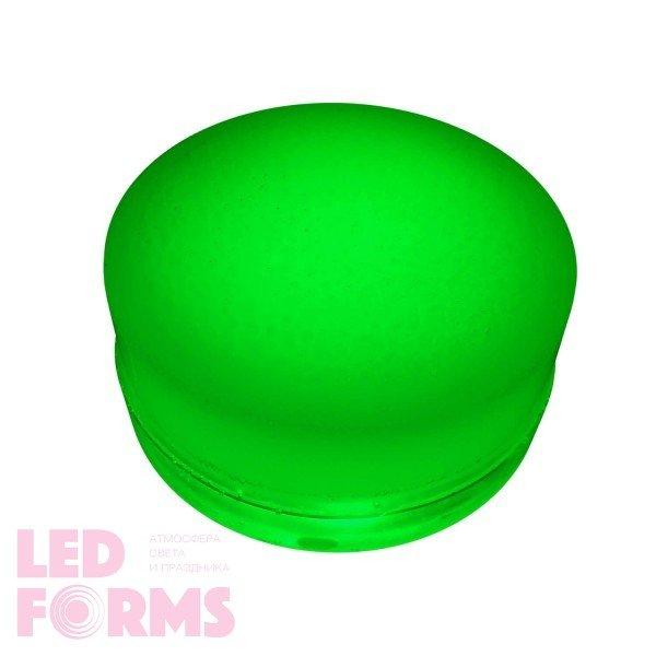 Грунтовый светильник LED LUMBRUS Spot 80x40 мм. одноцветный зелёный IP68 — Купить в интернет-магазине LED Forms