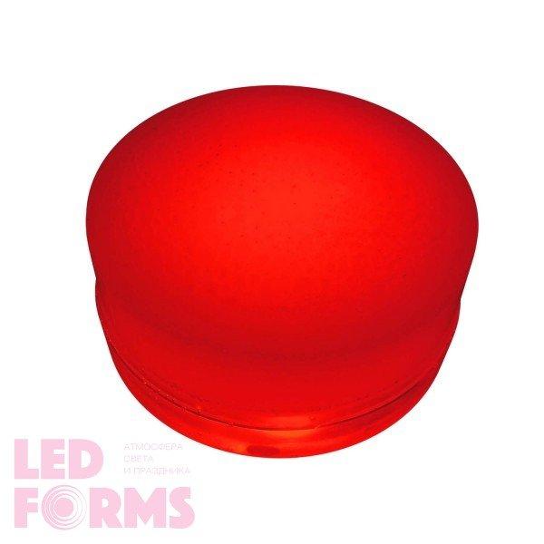 Грунтовый светильник LED LUMBRUS Spot 80x60 мм. одноцветный красный IP68 — Купить в интернет-магазине LED Forms