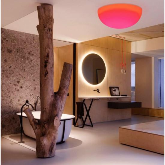 Потолочный светильник LED ПОЛУСФЕРА 60 см. разноцветный RGB с пультом ДУ IP65 220V — Купить в интернет-магазине LED Forms
