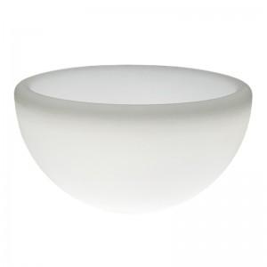 Светящееся кашпо полусфера для цветов LED GARDA 60 см. c белой светодиодной подсветкой IP65 220V