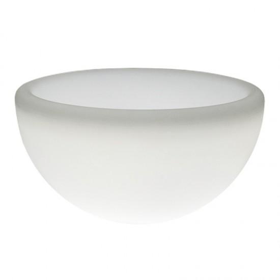 Светящееся кашпо полусфера для цветов LED GARDA 60 см. c белой светодиодной подсветкой IP65 220V — Купить в интернет-магазине LE