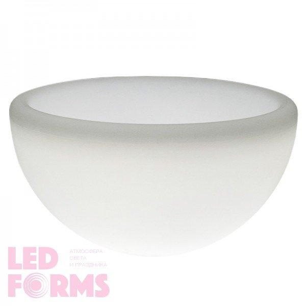 Светящееся кашпо полусфера для цветов LED GARDA 80 см. c белой светодиодной подсветкой IP65 220V — Купить в интернет-магазине LE