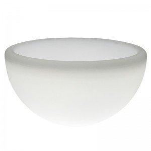 Светящееся кашпо полусфера для цветов LED GARDA 100 см. c белой светодиодной подсветкой IP65 220V