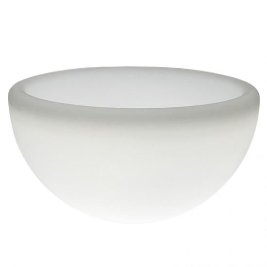 Светящееся кашпо полусфера для цветов LED GARDA 100 см. c белой светодиодной подсветкой IP65 220V — Купить в интернет-магазине L