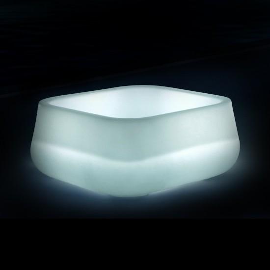 Кашпо светящееся (цветочница) LED Venlo S, высота 38 см., светодиодное, разноцветное (RGB), пылевлагозащита IP65