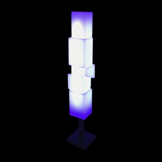 Светильник напольный (торшер) LED New York S, высота 147 см., светодиодный, разноцветный (RGB), пылевлагозащита IP65
