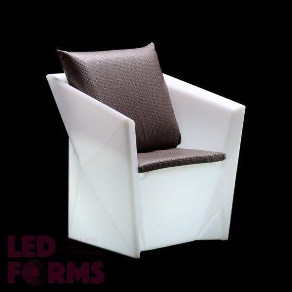 Кресло светящееся (светомебель) LED Borne, светодиодное, разноцветное (RGB), пылевлагозащита IP65
