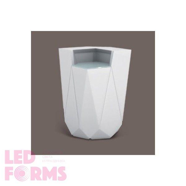 Барная стойка светящаяся угловая LED BORNE c разноцветной RGB подсветкой и пультом ДУ IP65 — Купить в интернет-магазине LED Form