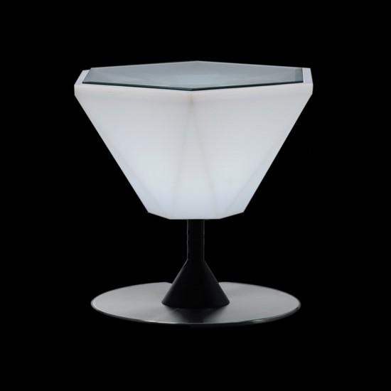 Столик кофейный светящийся (светомебель) LED Borne 2, светодиодный, разноцветный (RGB), пылевлагозащита IP65