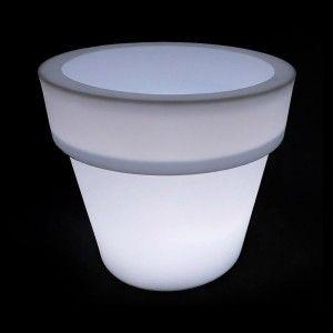 Кашпо с подсветкой для цветов LED Pot B, белое, IP65, 220V