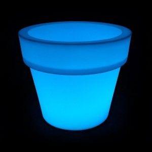 Кашпо с подсветкой для цветов LED Pot B, разноцветное RGB, IP65, с аккумулятором