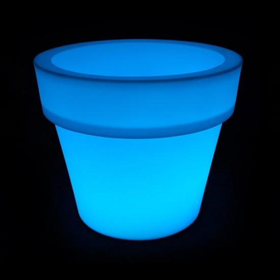 Цветочный вазон с аккумулятором LED POT-2 c разноцветной RGB подсветкой и пультом USB IP65 — Купить в интернет-магазине LED Form