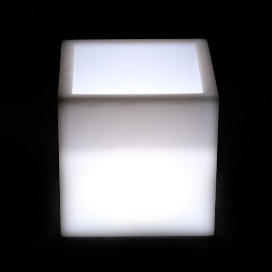 Кашпо с подсветкой LED Plaza A, 31*31*31 см., светодиодное, цвет белый, 220V