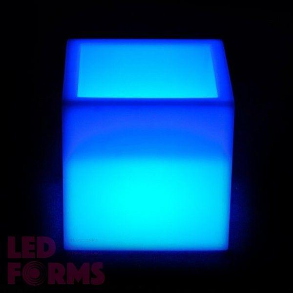 Кашпо с подсветкой LED Plaza A, 31*31*31 см., светодиодное, разноцветное (RGB), встроенный аккумулятор